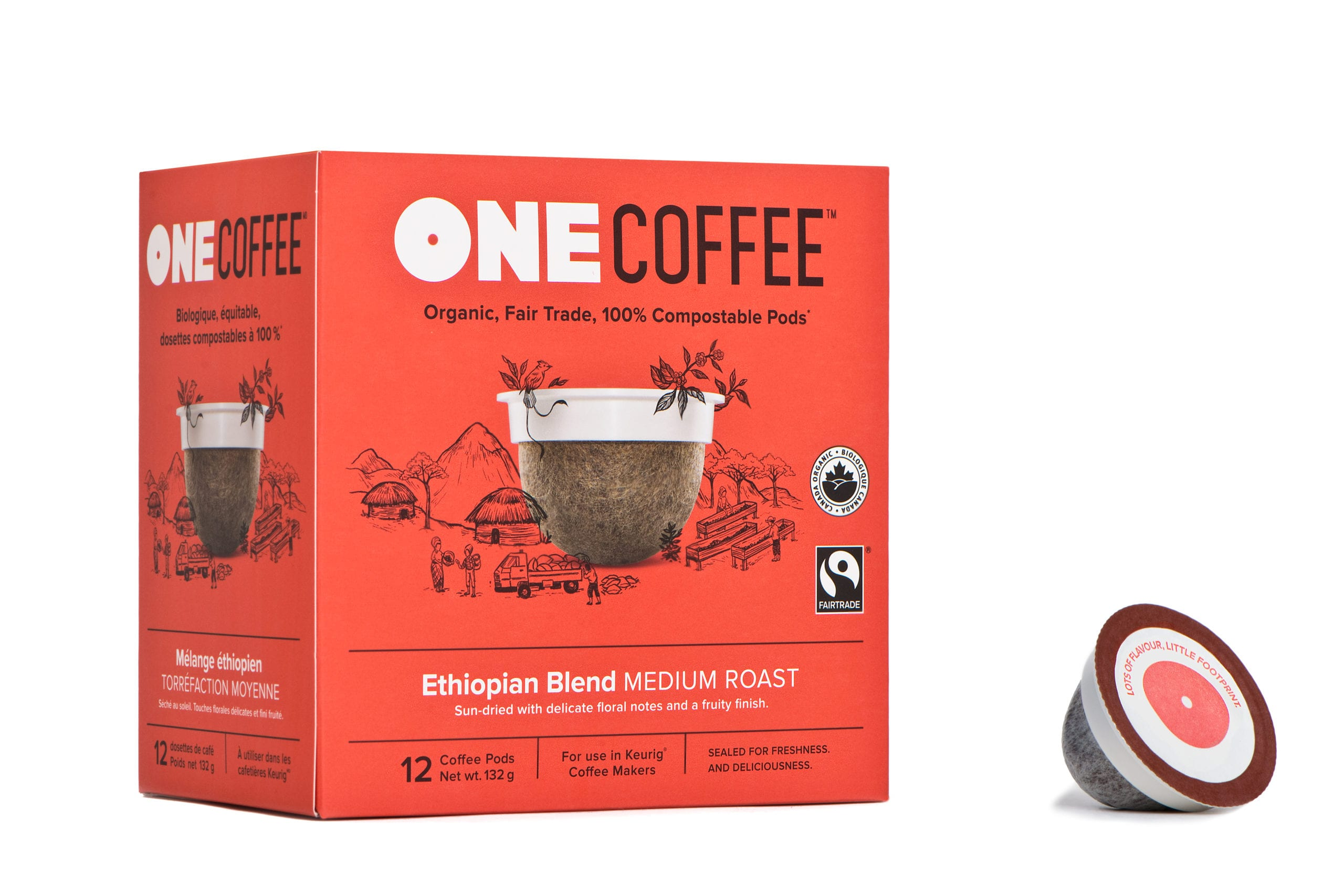 Box of Ethiopian Blend Pods | OneCoffee