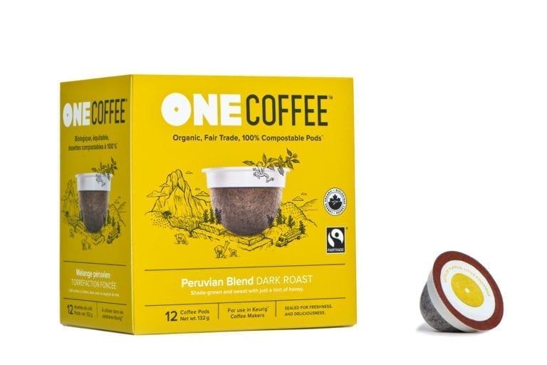 Box of OneCoffee - Peruvian Blend Dark Roast
